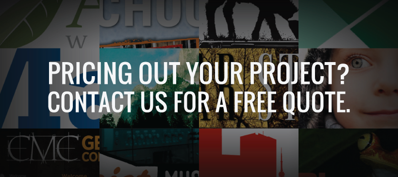Pricing our your project? Contact us for a free quote!